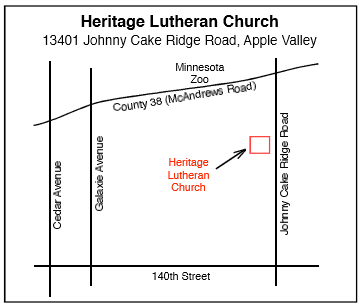 Map to Heritage Lutheran Church